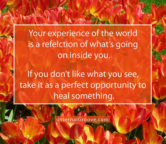 Your Experience of the World is a Reflection of What is Going on Inside You