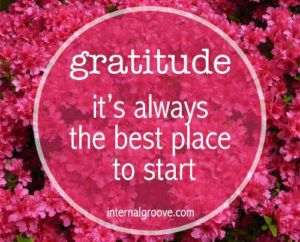 Gratitude - it is always the best place to start