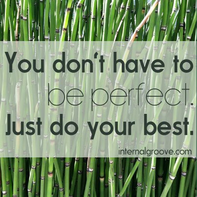 You Don't Have to Be Perfect. Just Do Your Best.
