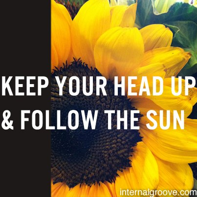 Keep Your Head Up and Follow the Sun