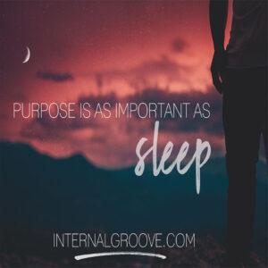 Purpose is As Important As Sleep